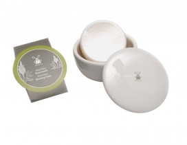 Jabón de afeitar Mühle áloe vera en bol de porcelana