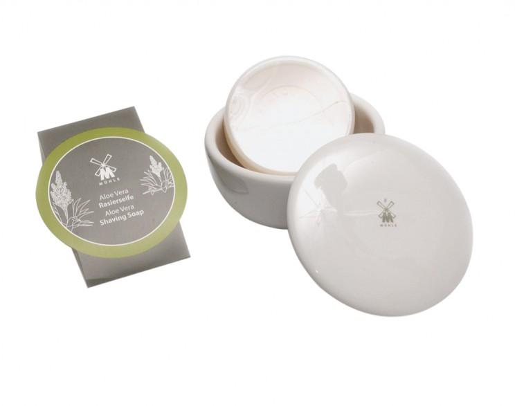 Jabón-de-afeitar-Mühle-aloe-vera-con-bol-porcelana