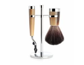 Juego de afeitar Brocha y maquinilla Mach 3 MÜHLE LISCIO resina imitación asta