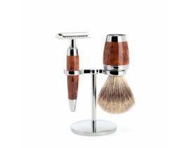 Juego de afeitar Brocha y maquinilla clásica de afeitar MÜHLE STYLO madera thuja
