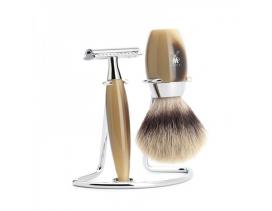 Juego de afeitar Brocha y maquinilla clásica MÜHLE KOSMO resina imitación asta