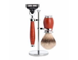 Juego de Brocha y maquinilla de afeitar MÜHLE Purist madera de brezo
