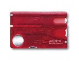 SwissCard Nailcare Victorinox, rojo transparente