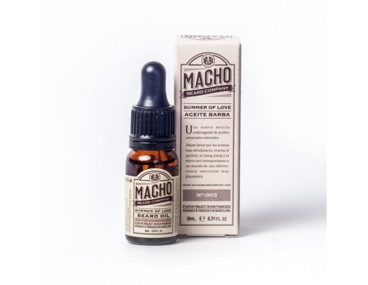 Summer of love aceite para barba natural Macho Beard.