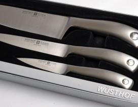 Juego Wüsthof 3 cuchillos Culinar. Pelador, fileteador y verduras