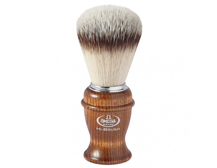 Brocha afeitar Omega Hi-Brush madera fresno