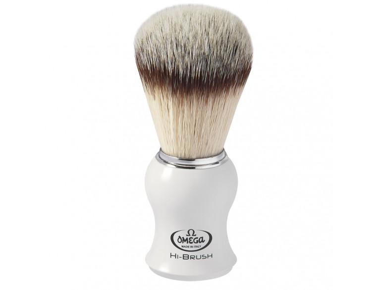 Brocha afeitar Omega Hi-Brush imitación fibra carbono