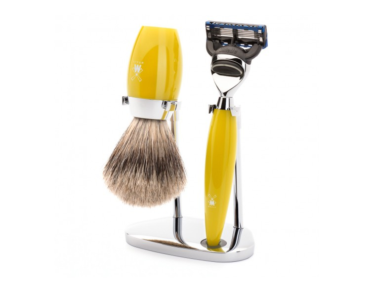 Juego de afeitar MÜHLE Kosmo madera de olivo