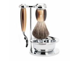 Juego de afeitar MÜHLE VIVO resina imitación asta