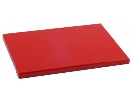 Tabla de corte polietileno rojo 40x30x2 cm