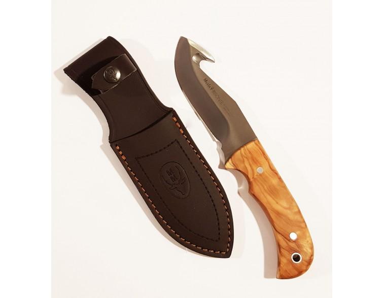 Cuchillo-desollar-Muela-Bisonte-madera-olivo