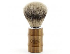 Brocha-afeitar-Omega-tejón-1ª-mango-bambú