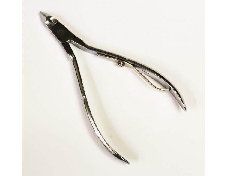Alicate-pieles-Roca-montado-cromado-10 cm