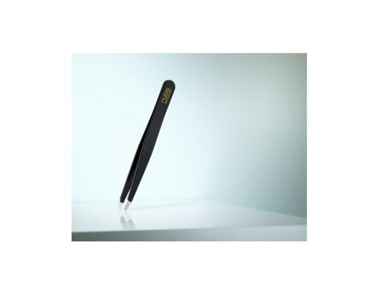Pinzas-depilar-Rubis-Switzerland-recta-negra