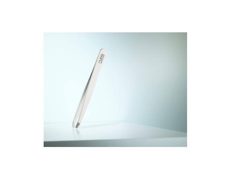 Pinzas-depilar-Rubis-Switzerland-recta-blanca