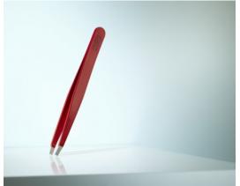 Pinza depilar Rubis Switzerland recta roja