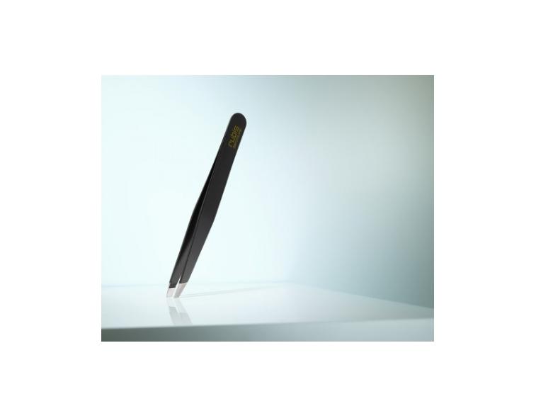 Pinzas-depilar-Rubis-Switzerland-sesgada-negra