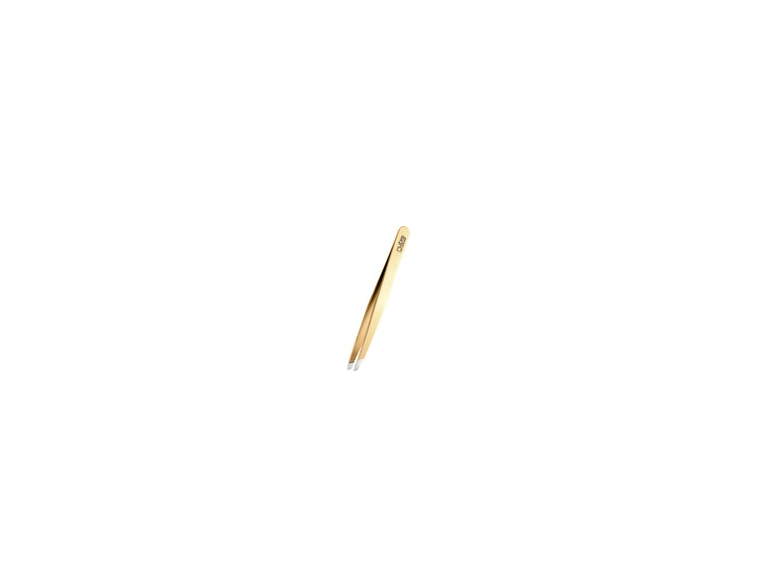 Pinza-depilar-Rubis-Switzerland-sesgada-baño-de-oro