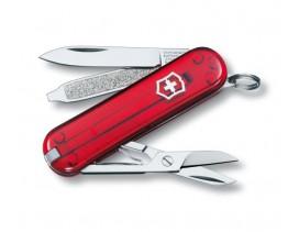 Navaja Victorinox mini 5 usos Classic SD roja transparente