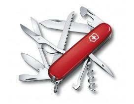 Navaja-Victorinox-multiusos-Huntsman-15-funciones-roja