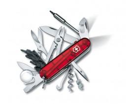 Navaja Victorinox mediana CyberTool Lite 34 usos roja translúcida