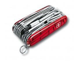 Navaja Victorinox mediana Swiss Champ Plus XLT 49 usos roja translúcida