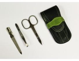 Estuche de manicura 3 piezas Dreiturm Duocolor verde