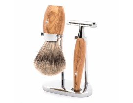 Juego de afeitar Brocha y maquinilla clásica Mühle KOSMO olivo
