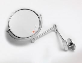 Espejo cristal óptico para pared x7 aumentos Ø 18 cm cromado
