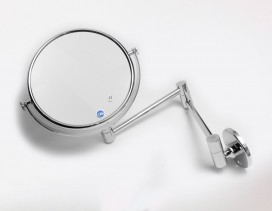 Espejo cristal óptico de pared x5 aumentos Ø 18 cm