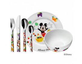 Set cubertería y vajilla 6 piezas infantil WMF Mickey Mouse