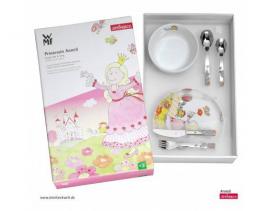 Set cubertería y vajilla 6 piezas infantil WMF Princesa Anneli