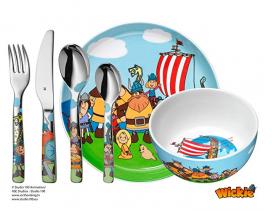 Set cubertería y vajilla 6 piezas infantil WMF Vickie Vikingo