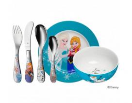 Set cubertería y vajilla 6 piezas infantil WMF Frozen