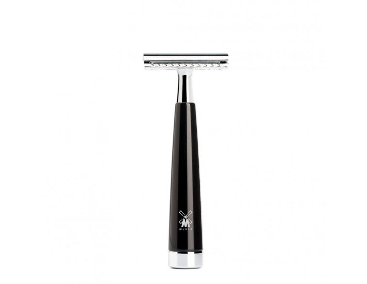 Maquinilla-de-afeitar-clásica-Mühle-LISCIO-resina-negra