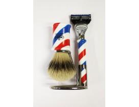 Juego de Brocha y maquinilla de afeitar Omega barbería