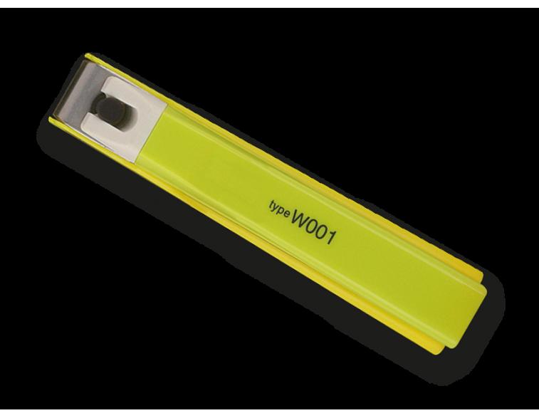 Cortauñas-inox-manicura-pequeño-Type-W001-KAI-verde-limón
