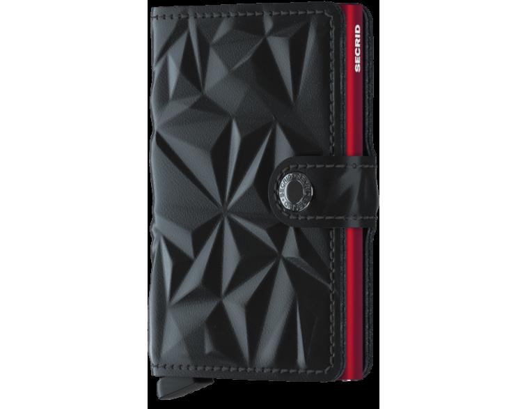 Tarjetero-Secrid-MiniWallet-Prism-Negro-Rojo