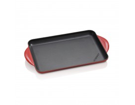 Parrilla-lisa-rectangular-32,5x22-cm-Le-Creuset-cereza