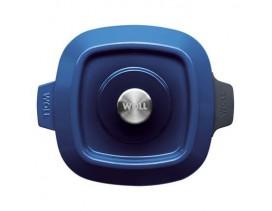 Cacerola Wöll Iron cuadrada 24 cm x 24 cm azul cobalto hierro fundido