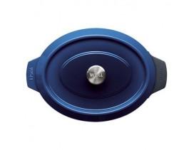 Rustidera Wöll Iron 34 cm x 26 cm azul cobalto hierro fundido