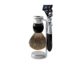 Set afeitar Fusion Riva imitación ébano Edwin Jagger