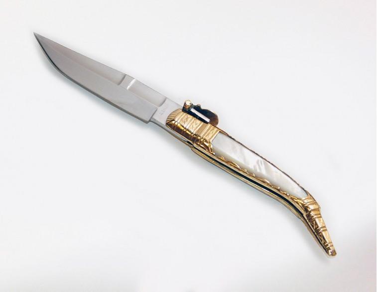 Navaja Expósito artesania oro – nácar