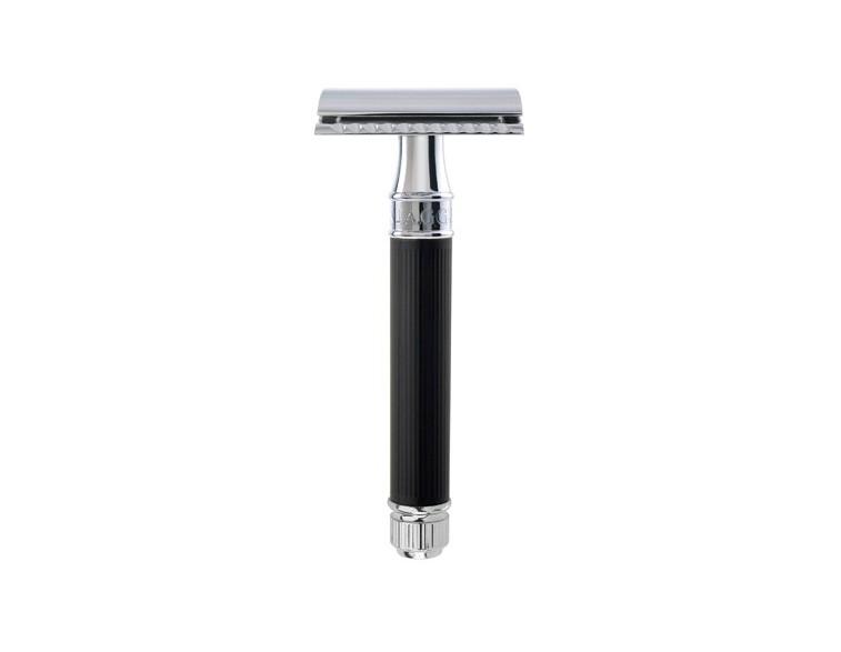 Maquinilla-clásica-afeitar-caucho-rayado-negro-Edwin-Jagger