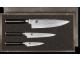 Juego-Kai-Shun-3-cuchillos-damasco-caja-de-madera-Pelador-fileteador-verduras