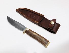 Cuchillo Muela damasquinado mango asta
