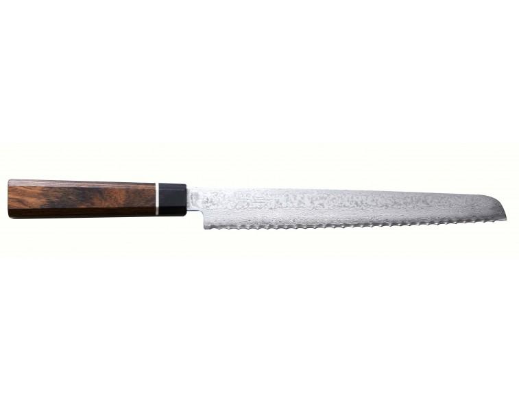 Cuchillo-japonés-pan-Suncraft-Senzo-Black-220-mm-Damasco
