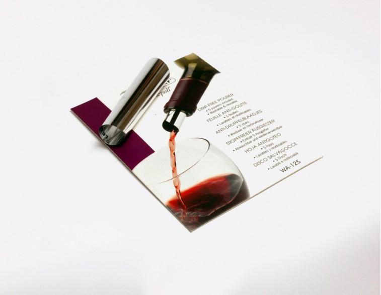 Hojas anti-goteo para vino Screwpull