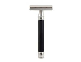 Maquinilla clásica afeitar inox PC 3one6 Edwin Jagger negra