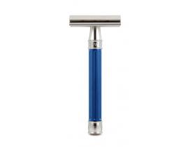 Maquinilla-clásica-afeitar-inoxidable-3one6-Edwin-Jagger-azul
